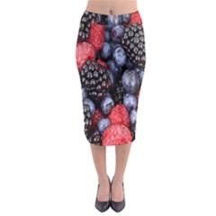 Forest Fruit Midi Pencil Skirt