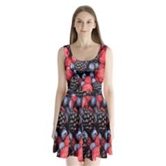 Forest Fruit Split Back Mini Dress