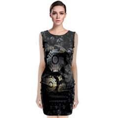 Fractal Sphere Steel 3d Structures Classic Sleeveless Midi Dress