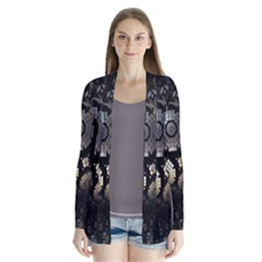 Fractal Sphere Steel 3d Structures Drape Collar Cardigan