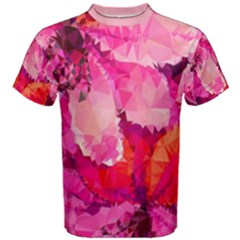 Geometric Magenta Garden Men s Cotton Tee