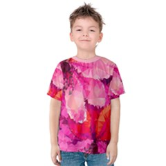Geometric Magenta Garden Kids  Cotton Tee