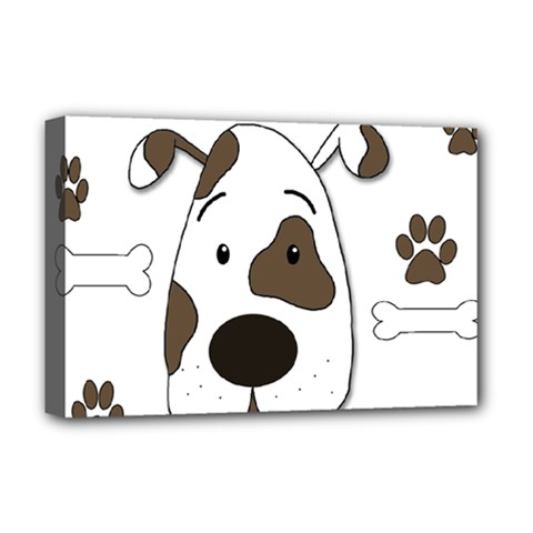 Cute dog Deluxe Canvas 18  x 12
