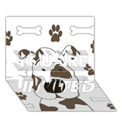 Cute dog YOU ARE INVITED 3D Greeting Card (7x5)