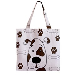 Cute dog Zipper Grocery Tote Bag