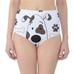 Cute dog High-Waist Bikini Bottoms