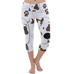 Cute dog Capri Yoga Leggings