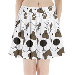 Cute Dog Pleated Mini Skirt