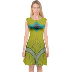 Annabellerockz, Green Bells Capsleeve Midi Dress