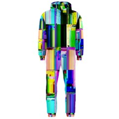Glitch Art Abstract Hooded Jumpsuit (Men)