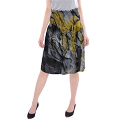 Grey Yellow Stone Midi Beach Skirt