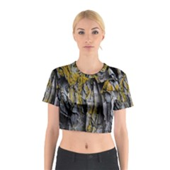 Grey Yellow Stone Cotton Crop Top