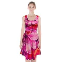Geometric Magenta Garden Racerback Midi Dress