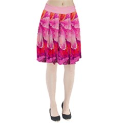 Geometric Magenta Garden Pleated Skirt