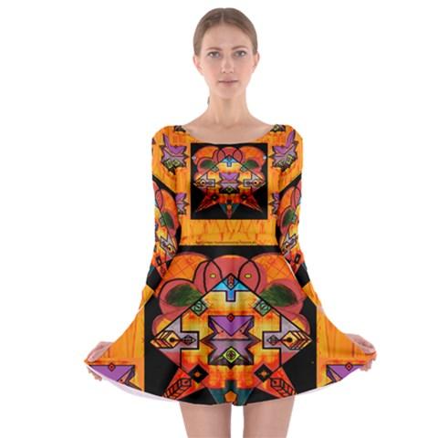 Clothing (20)6k,kk Long Sleeve Skater Dress