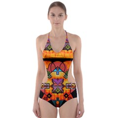 Clothing (20)6k,kk Cut Out One Piece Swimsuit