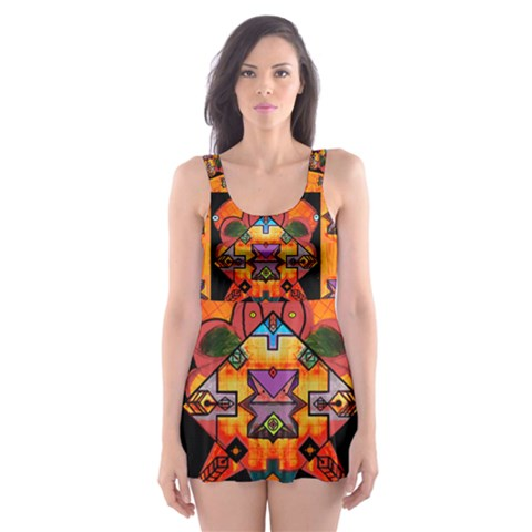 Clothing (20)6k,kk Skater Dress Swimsuit