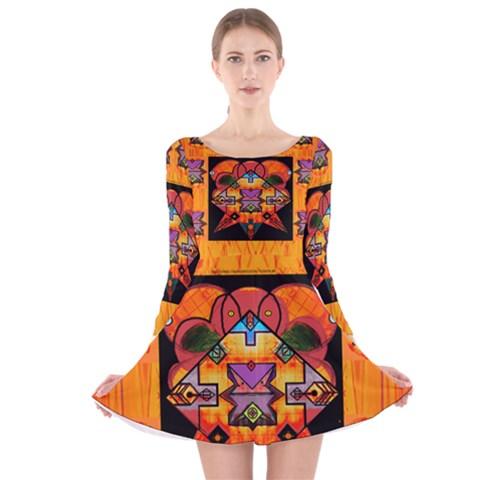 Clothing (20)6k,kk Long Sleeve Velvet Skater Dress