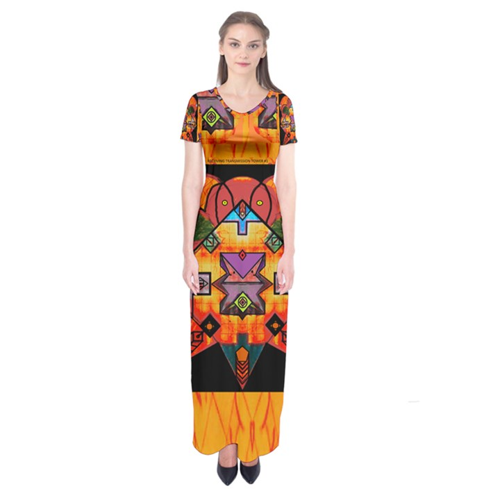 Clothing (20)6k,kk Short Sleeve Maxi Dress