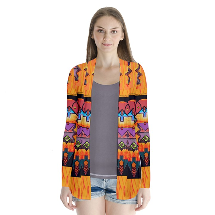 Clothing (20)6k,kk Drape Collar Cardigan