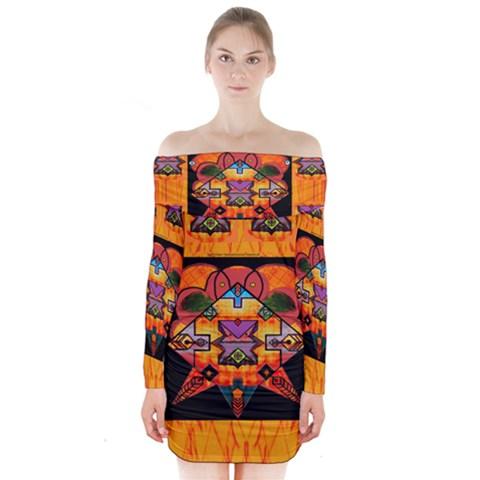 Clothing (20)6k,kk Long Sleeve Off Shoulder Dress