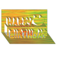 Chill out Happy Birthday 3D Greeting Card (8x4)