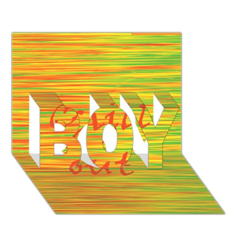 Chill out BOY 3D Greeting Card (7x5)