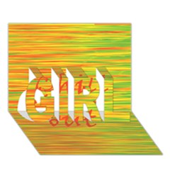 Chill Out Girl 3d Greeting Card (7x5)
