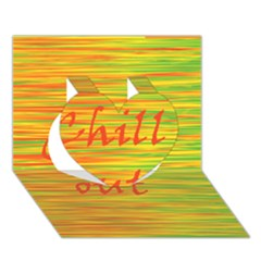 Chill Out Heart 3d Greeting Card (7x5)