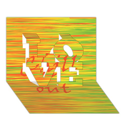 Chill out LOVE 3D Greeting Card (7x5)