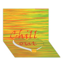 Chill Out Heart Bottom 3d Greeting Card (7x5)