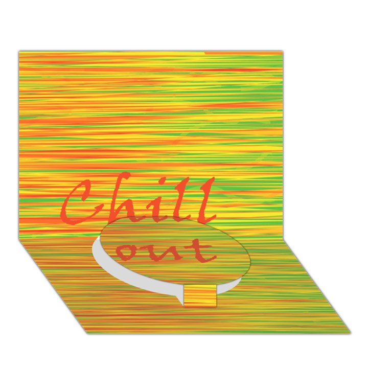 Chill out Circle Bottom 3D Greeting Card (7x5)