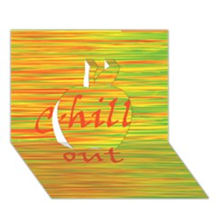 Chill Out Apple 3d Greeting Card (7x5)