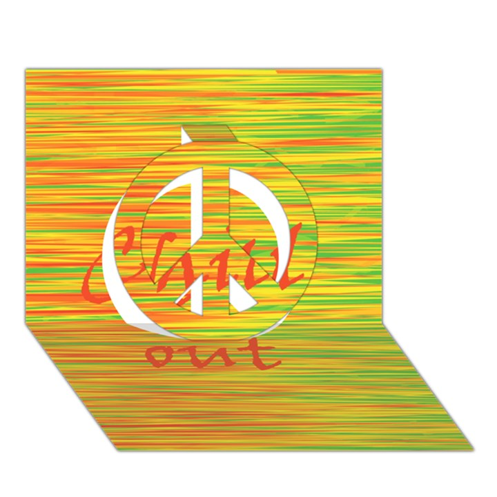 Chill out Peace Sign 3D Greeting Card (7x5)