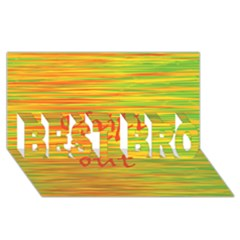 Chill Out Best Bro 3d Greeting Card (8x4)