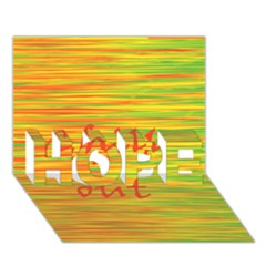 Chill Out Hope 3d Greeting Card (7x5)