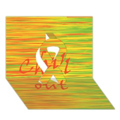 Chill Out Ribbon 3d Greeting Card (7x5)