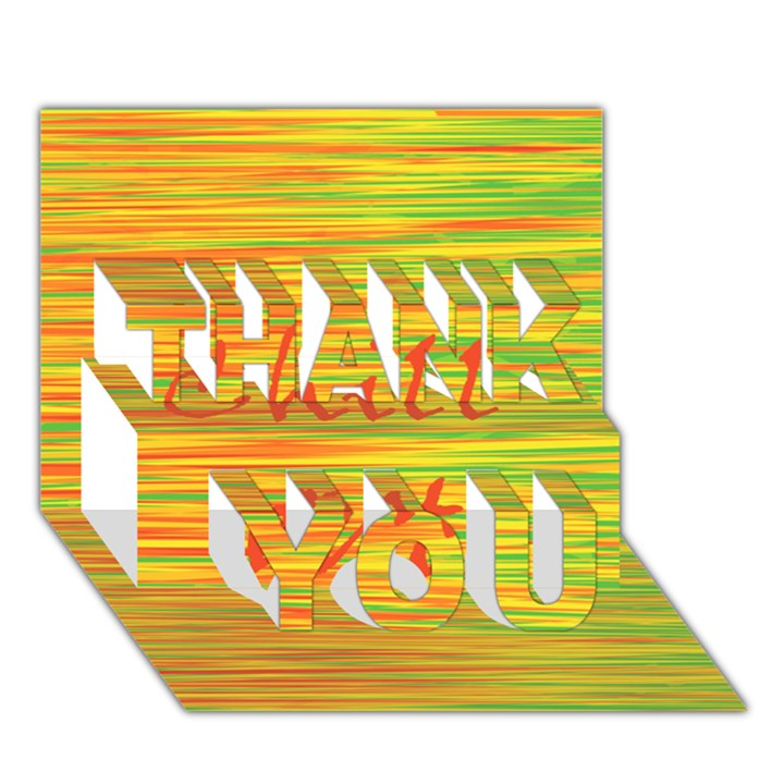 Chill out THANK YOU 3D Greeting Card (7x5)