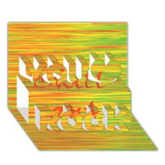Chill out You Rock 3D Greeting Card (7x5)