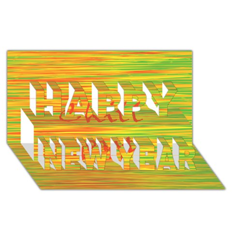 Chill out Happy New Year 3D Greeting Card (8x4)