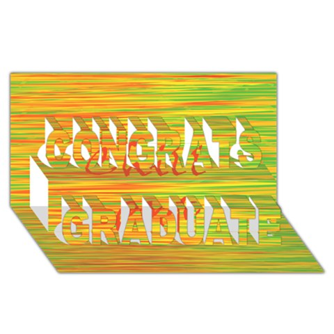 Chill out Congrats Graduate 3D Greeting Card (8x4)
