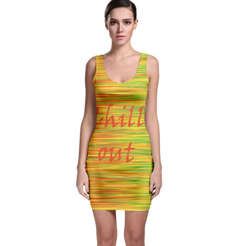 Chill out Sleeveless Bodycon Dress