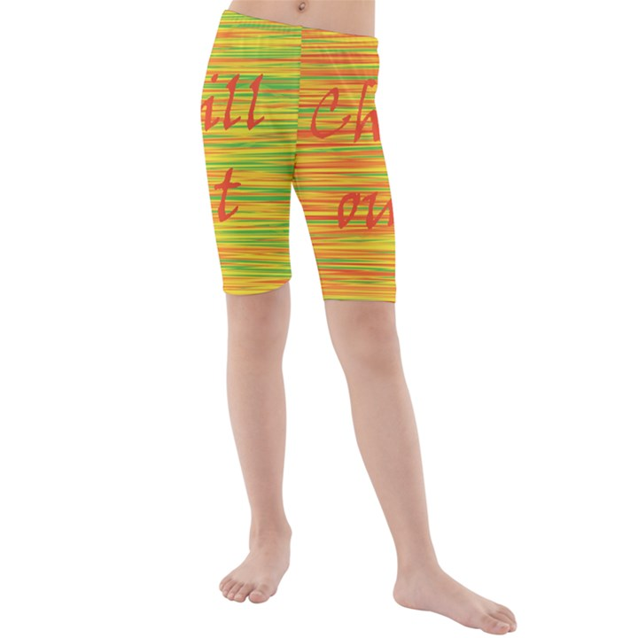 Chill out Kids  Mid Length Swim Shorts