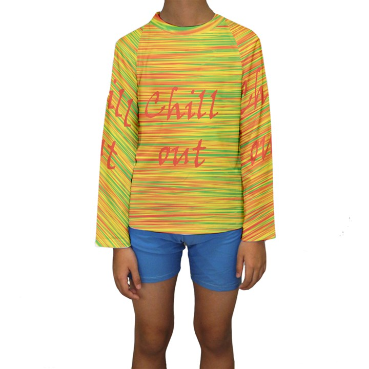 Chill out Kids  Long Sleeve Swimwear