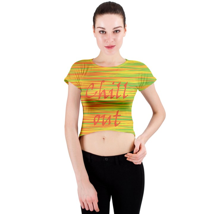 Chill out Crew Neck Crop Top