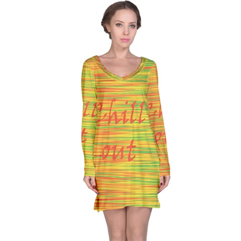 Chill out Long Sleeve Nightdress