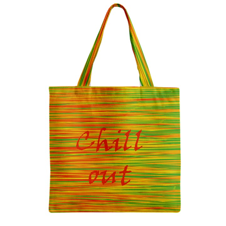 Chill out Zipper Grocery Tote Bag