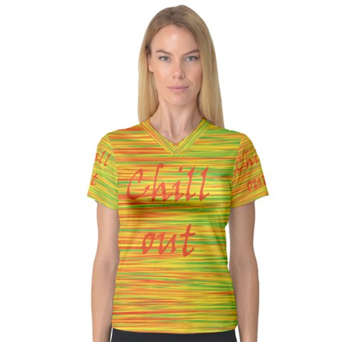 Chill out Women s V-Neck Sport Mesh Tee