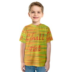 Chill Out Kids  Sport Mesh Tee
