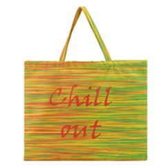 Chill Out Zipper Large Tote Bag